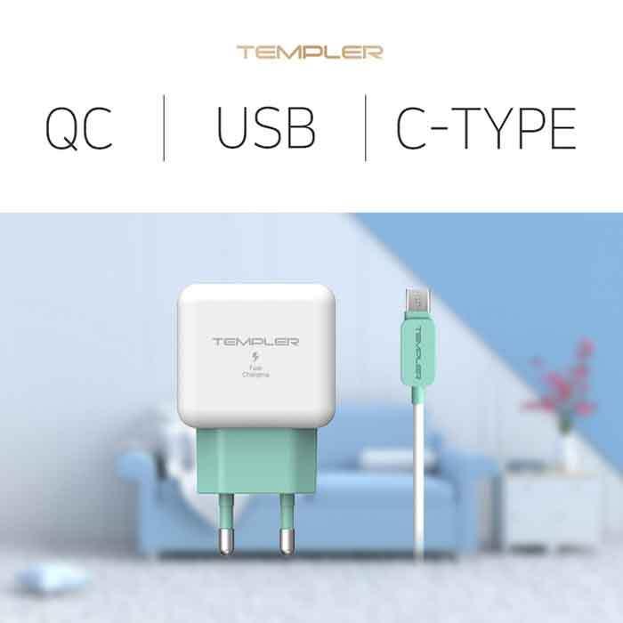 템플러 QC 3.0 USB 1포트 C타입 ICTC-18WQC30U1_CP 이미지