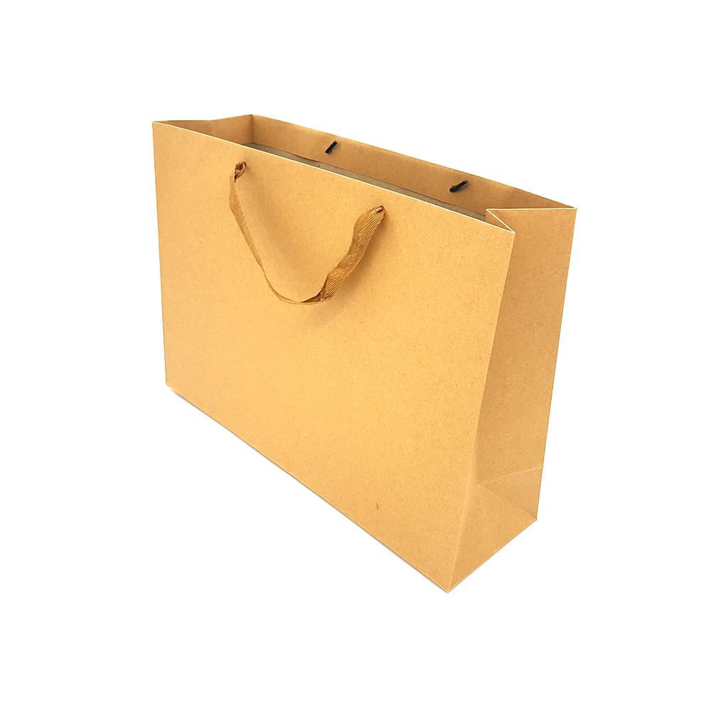 N7 무지 크라프트 종이 선물백 가로형 특대