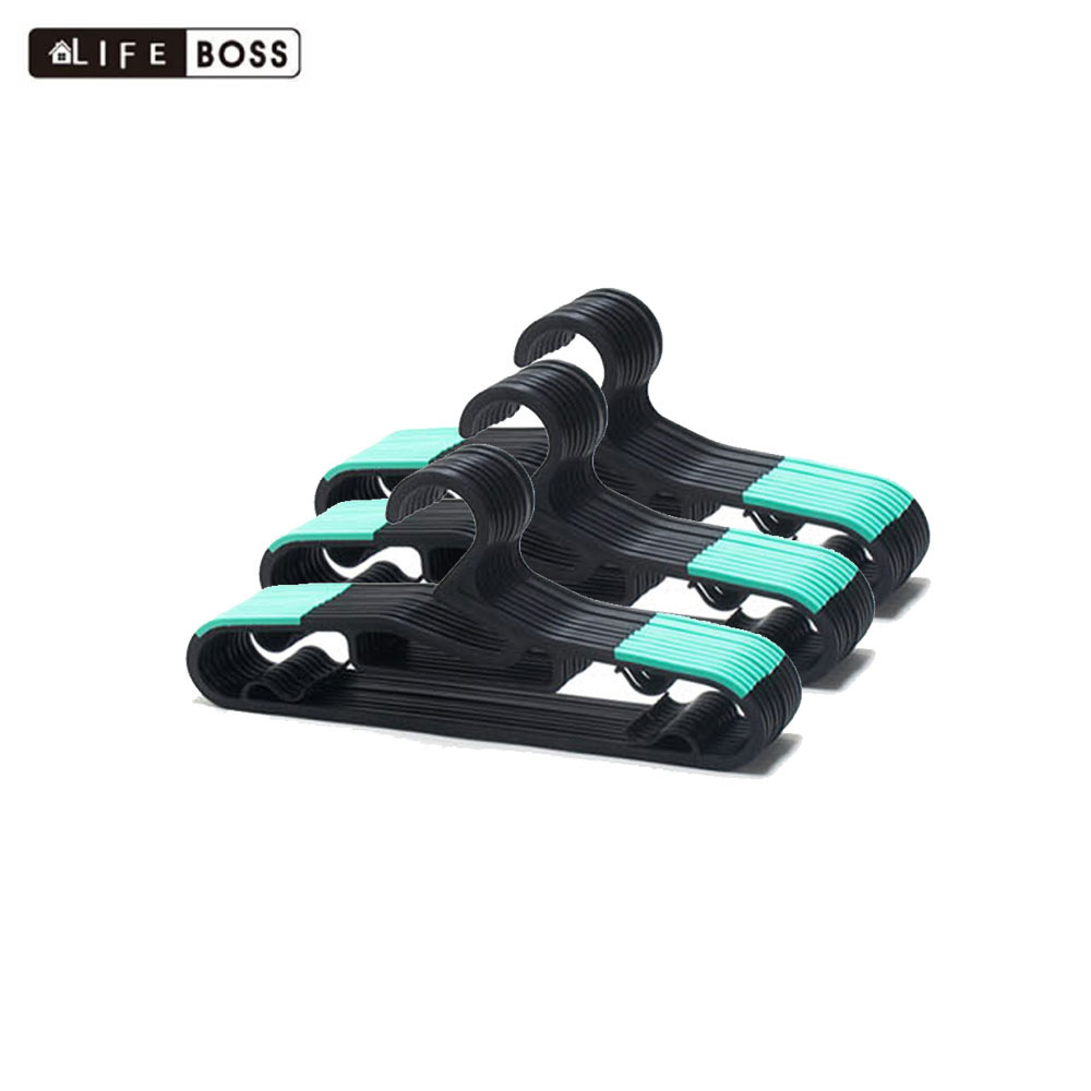 BOSS 논슬립 옷걸이 성인용 블랙 민트 30P