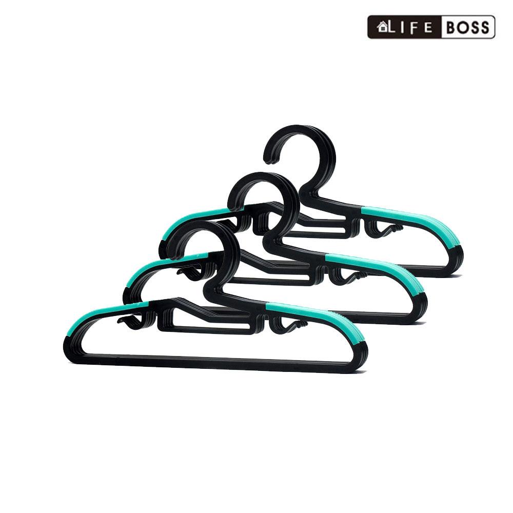 BOSS 논슬립 옷걸이 유아동용 블랙 민트 30P