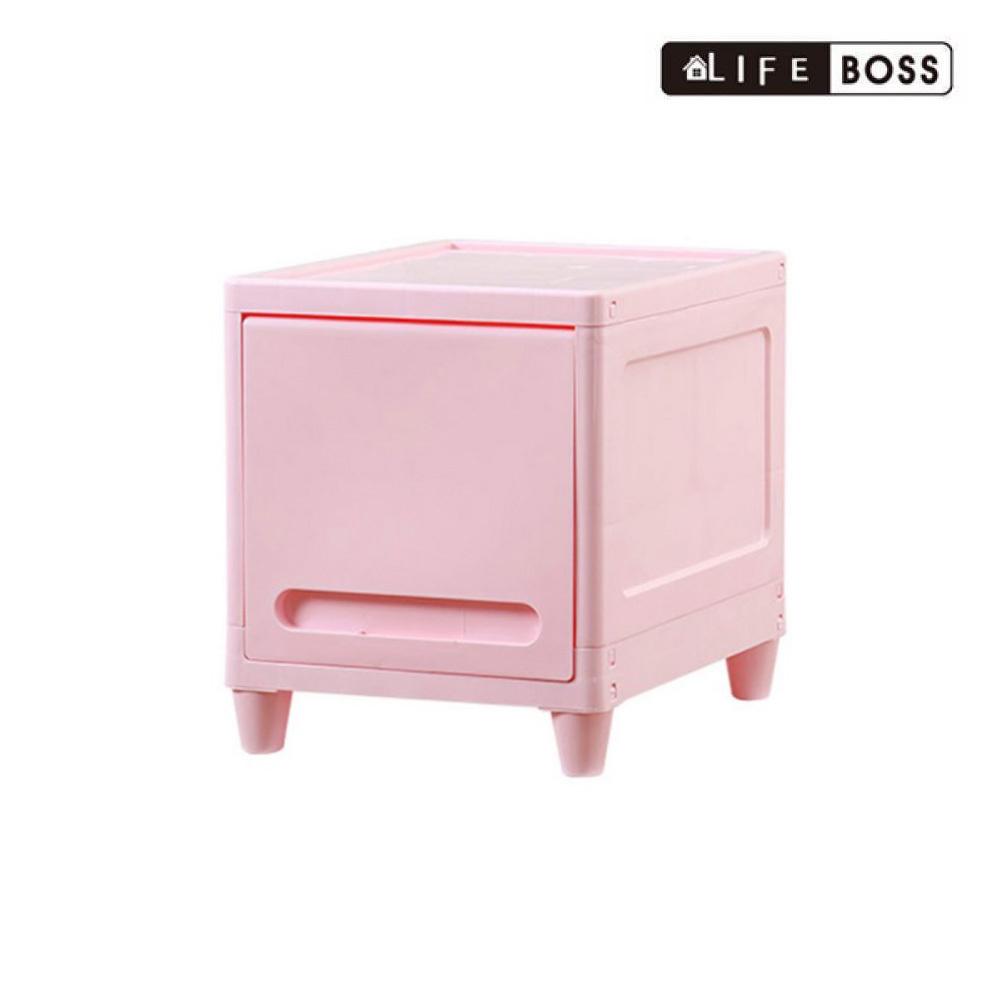 BOSS 수납함 파스텔 캐비넷 사각1단 핑크