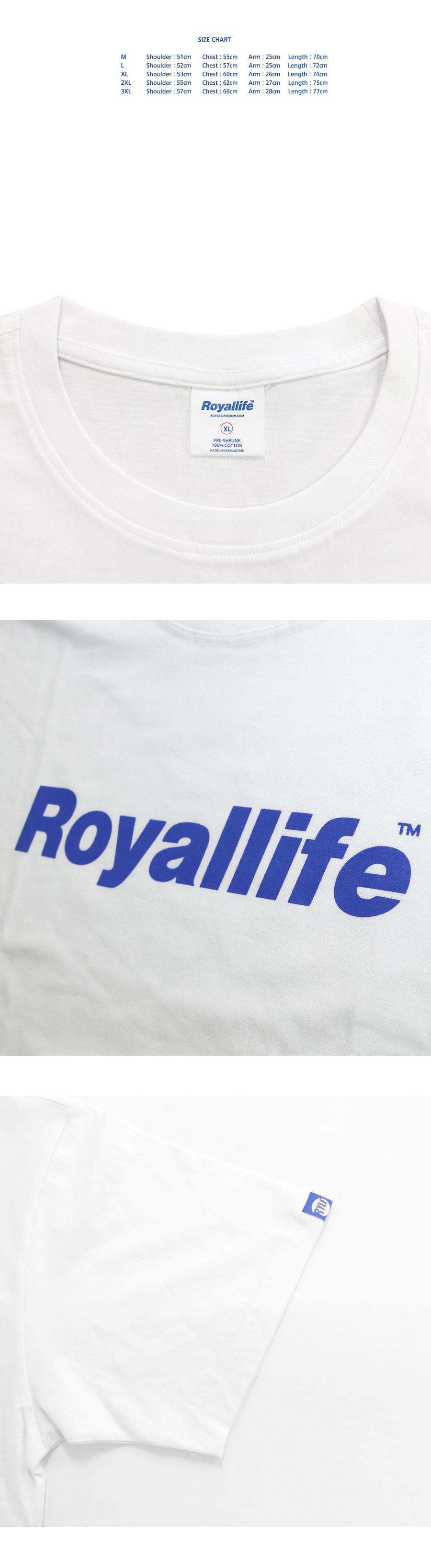로얄라이프(ROYALLIFE) RL001 오리지널 로고 반팔 - 블루